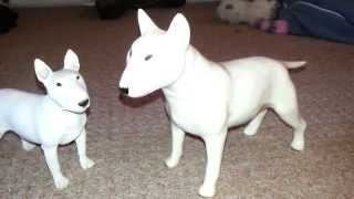 cooper craft white english bull terrier retro made in england statue figurine