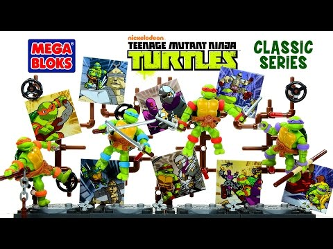 Mega Bloks Teenage Mutant Ninja Turtles Classic Series W/ Donatello Leonardo Michelangelo & Raphael