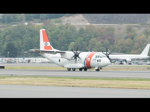 US Coast Guard C-27 Spartan Takeoff from Boeing Field