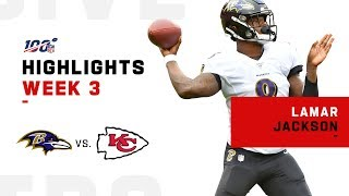 Lamar Jackson Highlights in QB Duel vs. Mahomes | NFL 2019