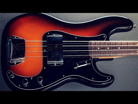 Blues Bass Guitar Backing Jam Track (E)