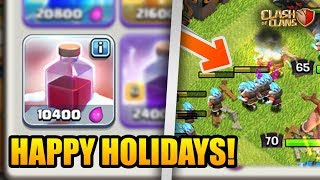 ALL SANTA SURPRISE + ICE WIZARD Attack! | Clash of Clans Holiday Update Is Here!