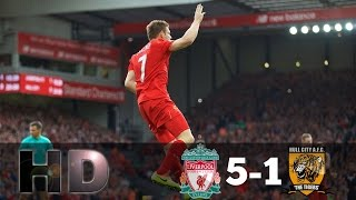 liverpool vs hull city 5 1 all goals hd epl 24 9 2016