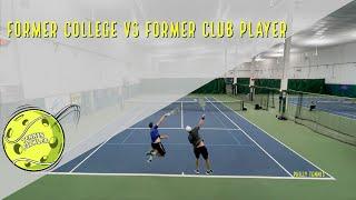 Former College vs Former Club Tennis Player