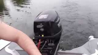TOHATSU MFS 9.8 AS.первый спуск на воду.