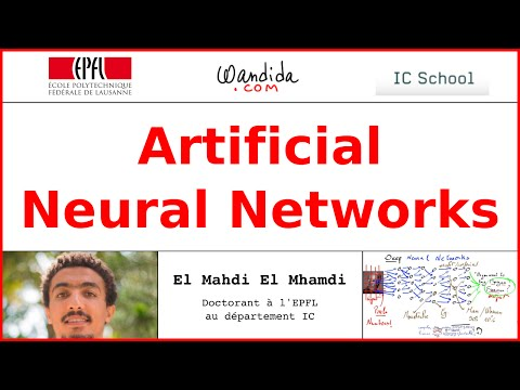 Artificial Neural Networks in Machine Learning | El Mahdi El Mhamdi