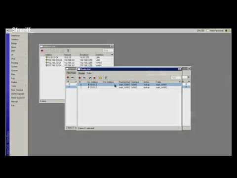 Mikrotik - 2xWAN Simple Traffic management based on client IP addresses.