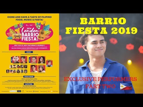London Barrio Fiesta 2019 - The Most Talented Filipino Celebrities, FT Inigo Pascual