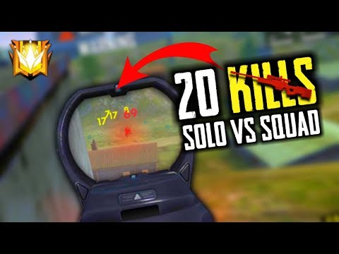 AWM+MP40+SCAR Gun 20 Kills In Solo Vs Squad - Garena Free Fire- Total Gaming