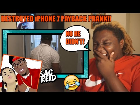 DESTROYED iPHONE 7 PAYBACK PRANK!!...