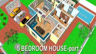 5 Bedroom House Plans-5 Bedroom Duplex House Design-5 Bedroom Bungalow House Design-manis Home-part1
