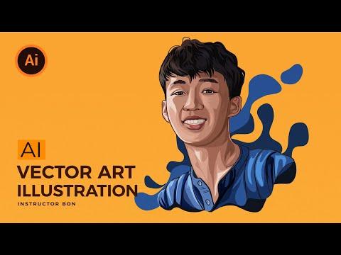 Vẽ hình chân dung bằng illustrator (vector Art Tutorial)   BonART
