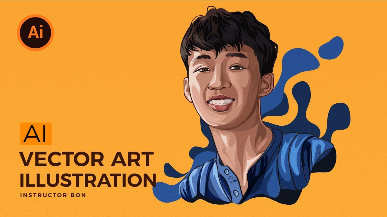 Vẽ hình chân dung bằng illustrator (vector Art Tutorial)   BonART   Tất tần tật những nội dung nói về phần mềm vẽ chân dung chi tiết nhất