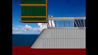 Ship Wheelhouse Collision - Deformable Semi-submersible in Survival Draft