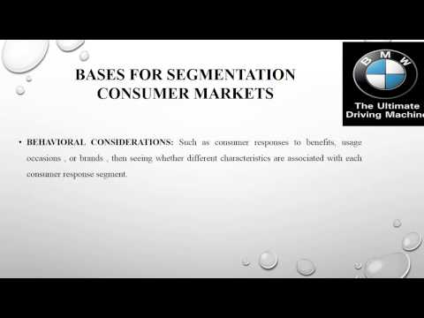 bmw market segmentation essays Read this essay on bmw marketing case analysis come browse our large digital warehouse of free sample essays get the knowledge you need in order to pass your.