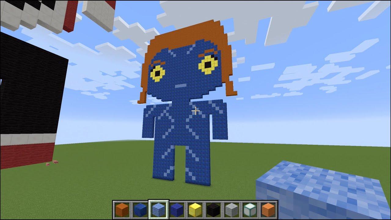 Minecraft Pixel Art Mystique X Men
