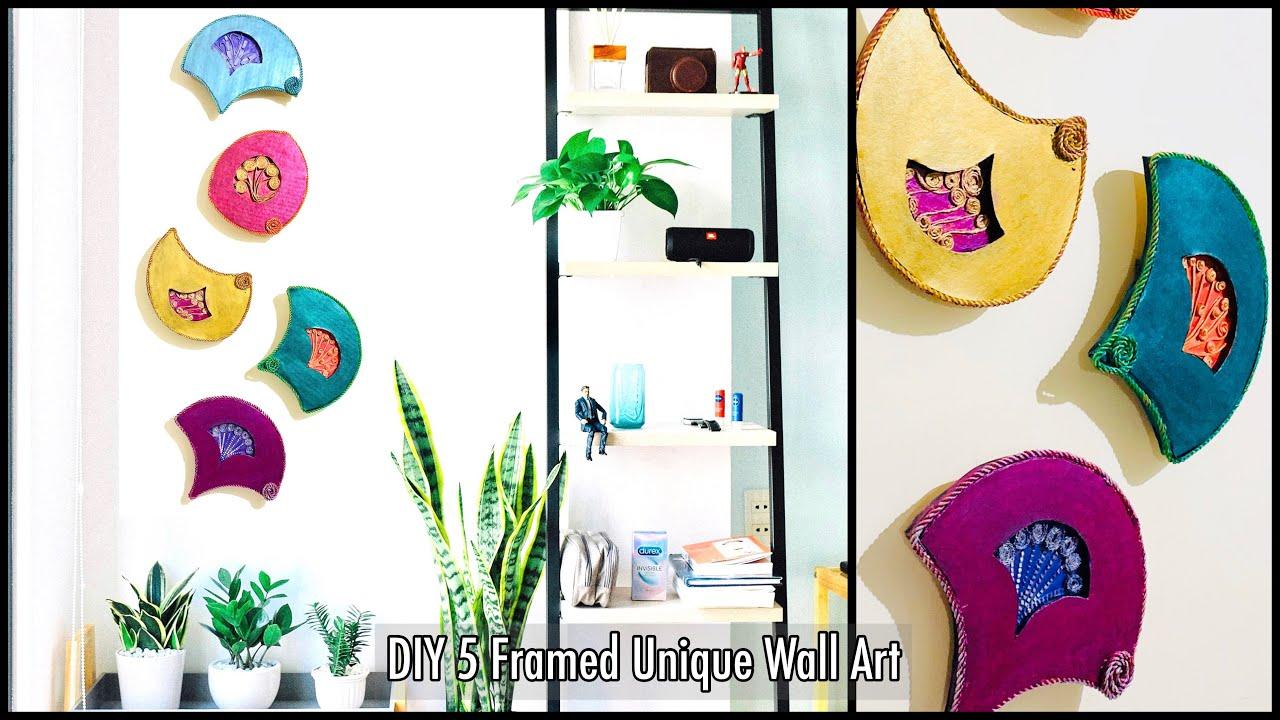5 Framed Textured & Patterned Unique Wall Art|Home Decor|gadac diy|Craft Ideas|Wall Decoration Ideas