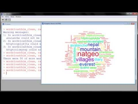 R - Twitter Mining with R (part 2) create WordCloud from Tweets