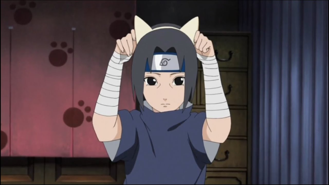 Itachi Cat Ears - YouTube  Sasuke As A Cat