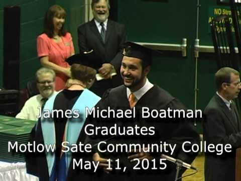 James Michael Boatman Graduates Motlow State Community College