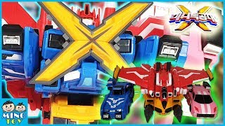 Miniforce X commando X machine 4 combine transform robots! Toy Review for kids!