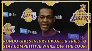 Lakers Interview: Rondo Gives Hand Injury Update & Explains How He Stays Competitive Off the Court