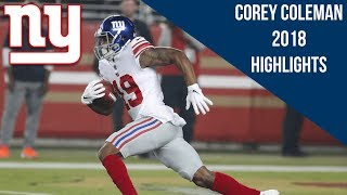 Corey Coleman 2018 Giants Highlights