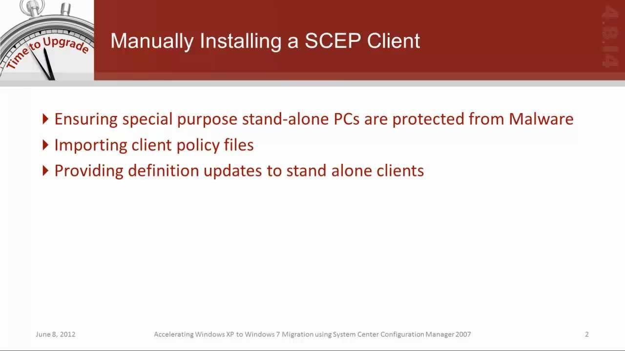 How to Perform a Manual System Center Endpoint Protection (SCEP
