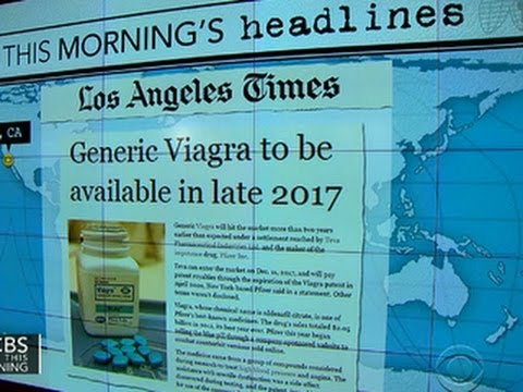Headlines at 8:30: Generic Viagra to go on sale in 2017
