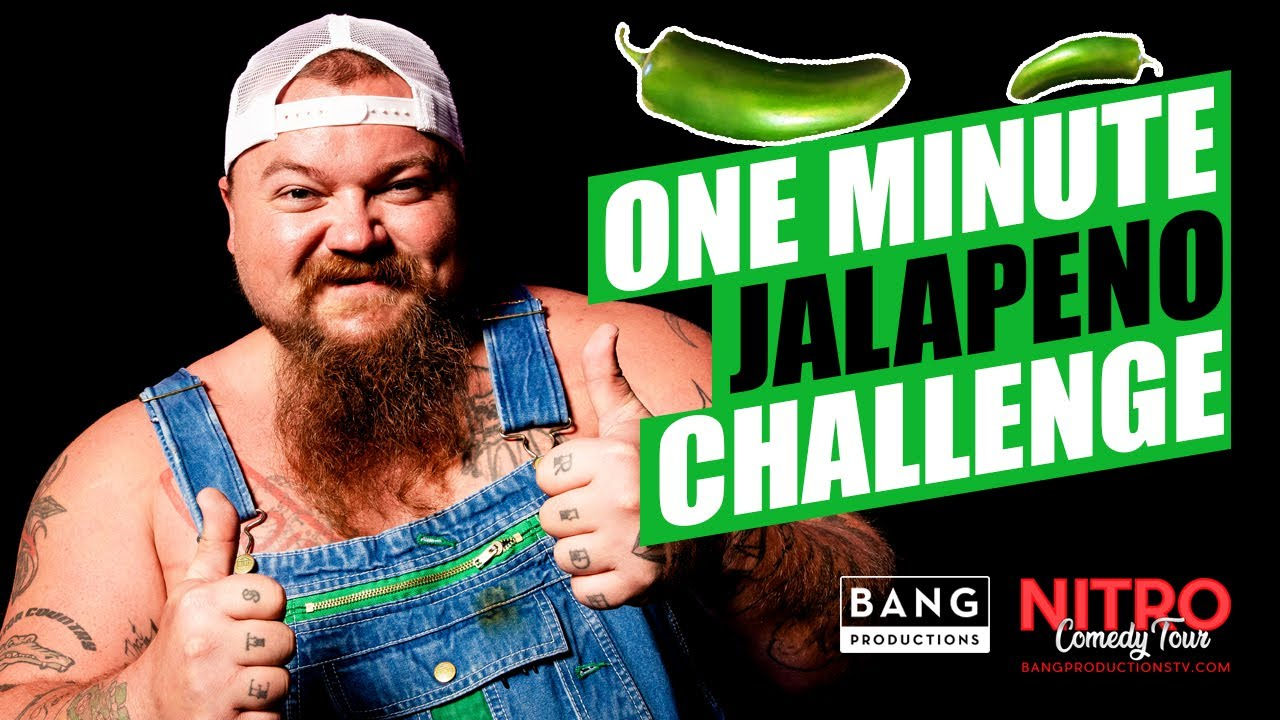 COMEDIAN CATFISH COOLEY: ONE MINUTE JALAPENO CHALLENGE #COMEDY #FUNNY #LAUGH
