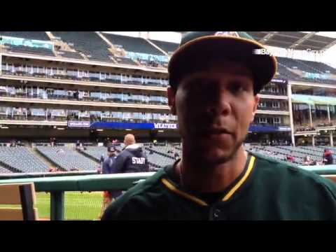 Newest #Athletics 1B Kyle Blanks talks about the importance of getting a fresh start.