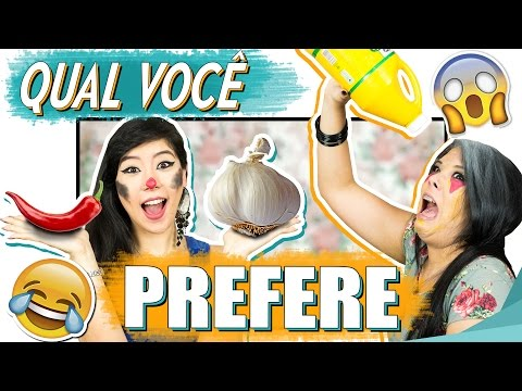 DESAFIO DO QUAL VOCÊ PREFERE? ft Kauany Santos | Blog das irmãs