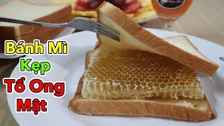 Lâm Vlog - Lần Đầu Ăn Thử Bánh Mì Kẹp Tổ Ong Mật | Honeycomb