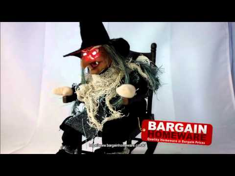 Halloween Witch On Rocking Chair Decoration Youtube