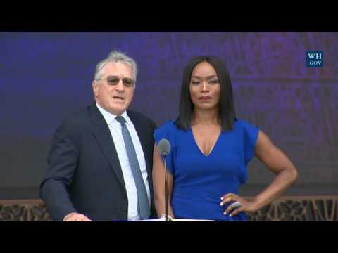 Angela Bassett and Robert De Nero At African American Museum Opening