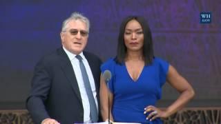 Angela Bassett and Robert De Nero At African American Museum Opening