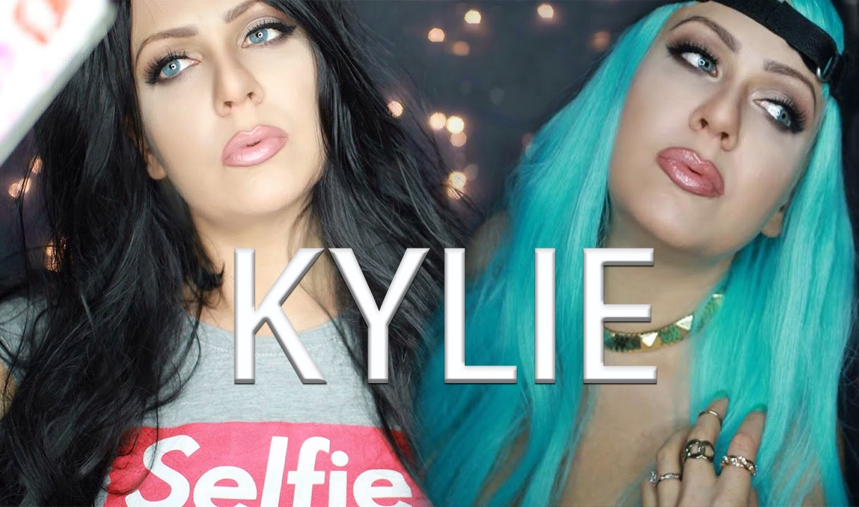KYLIE JENNER HALLOWEEN COSTUME - TWO DIFFERENT LOOKS - BLUE WIG ...