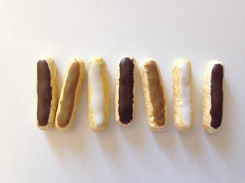 tuto-fimo-éclairs-au-chocolat,-à-la-vanille-et-au-café