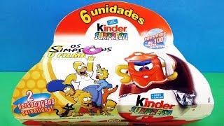 Раритетные Киндер Сюрпризы #3 2008 года СИМПСОНЫ в кино! The Simpsons TOYS Kinder Surprise unboxing
