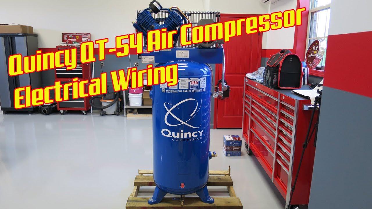 quincy qt 54 shop air compressor electrical [ 1280 x 720 Pixel ]