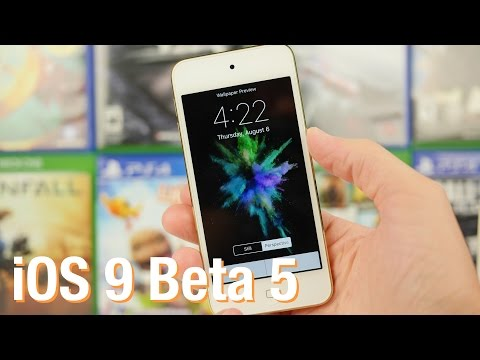 iOS 9 Beta 5: 16 New Wallpapers, Redesigned Shift Key, and More!