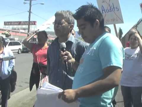 Oakland Dobake Bakery BTCGM Local125 Immigrant Workers Protest ICE I-9 Audit & Firing Of 125 Workers