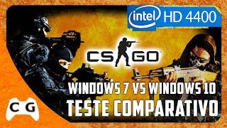 CS:GO Teste Intel HD Graphics Windows 7 vs Windows 10 Update de Aniversário - Comparativo #201