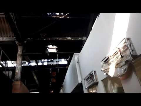 EXCLUSIVO - Mercado M de Sto Amaro após incêndio.