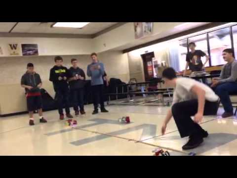 Final race of Tenino middle school robotics sphero chariot