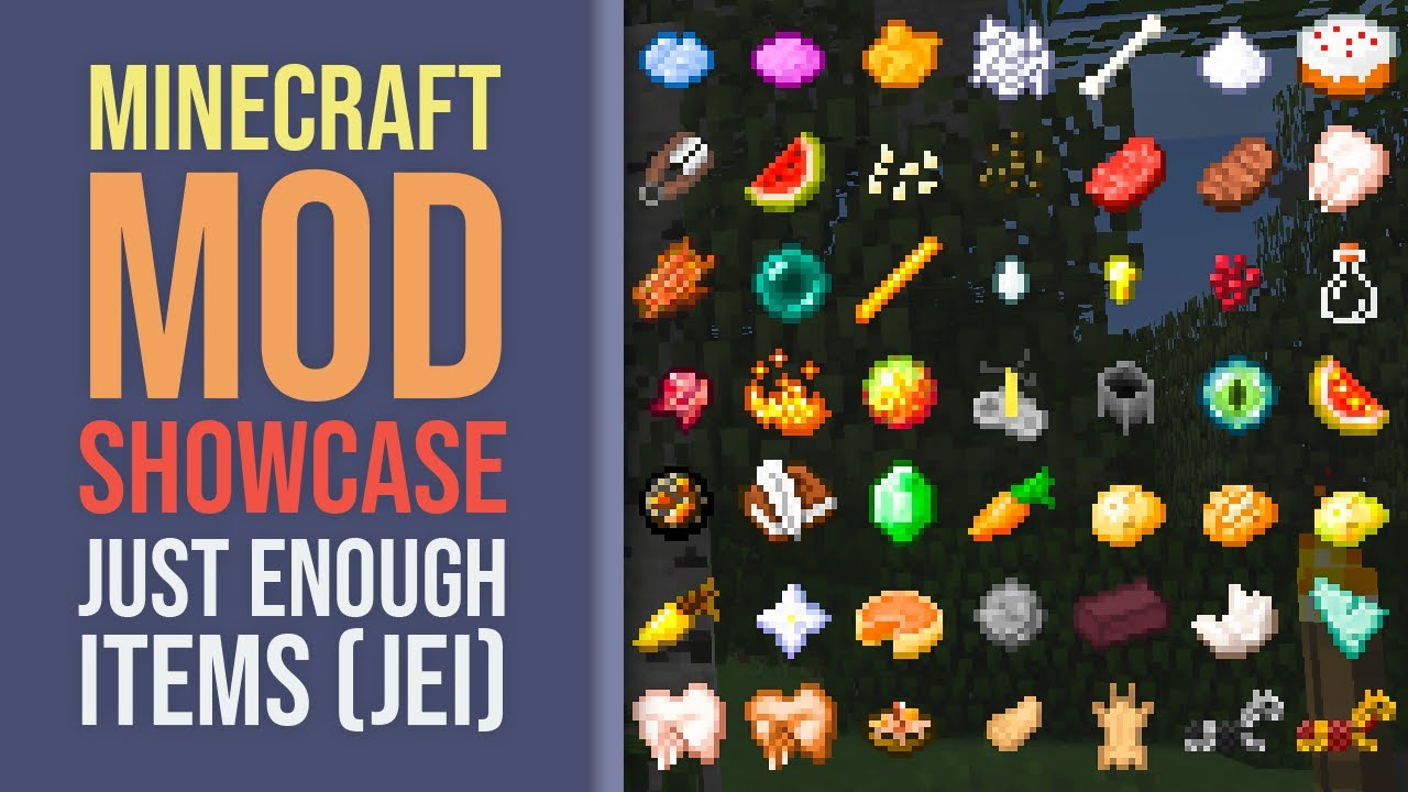 Minecraft Mod Showcase: Just Enough Items (JEI)