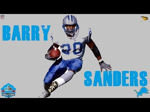 6fbecf3e Barry Sanders (The Greatest Running back in NFL History) - YouTube