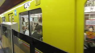 【入線】銀座線京橋駅に東京メトロ1000系浅草行きが入線 ミニ58