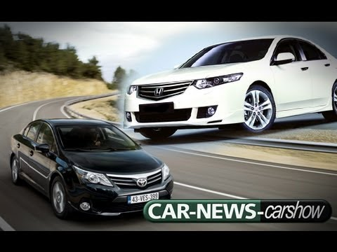 carshow middle class sedans (toyota avensis | honda accord) - hd