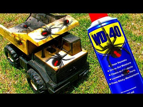 Deadly Redback Spiders On Tonka Toys WD40 One Year Later 🕷 ⚠️ 🕷 HAILSTORM